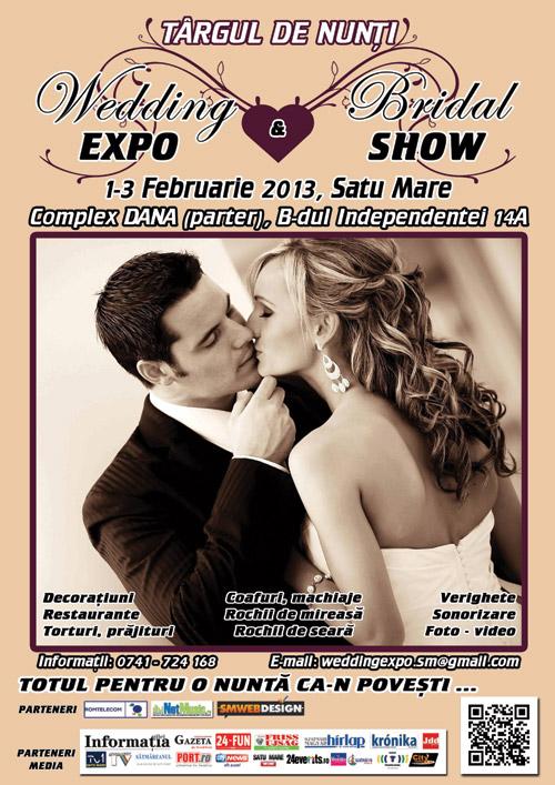 """A II-a ediţie a Târgului de Nunţi """"Wedding EXPO & Bridal SHOW"""" Satu Mare"""
