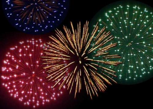 Focuri de artificii în Noaptea de Revelion în Negreşti-Oaş