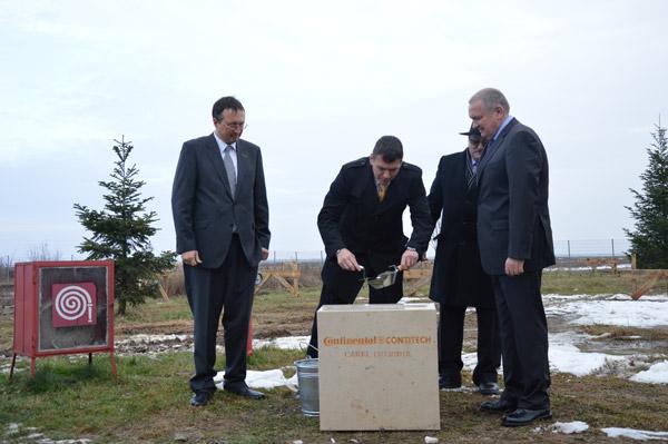 A fost aşezată piatra de temelie a unei noi hale a fabricii ContiTech din Carei