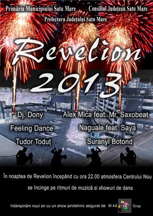 Revelion 2013 în Piața 25 Octombrie
