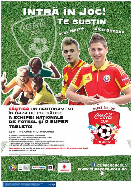 Înscrierile la Cupa Coca-Cola, ediţia 2013 se apropie de sfârşit