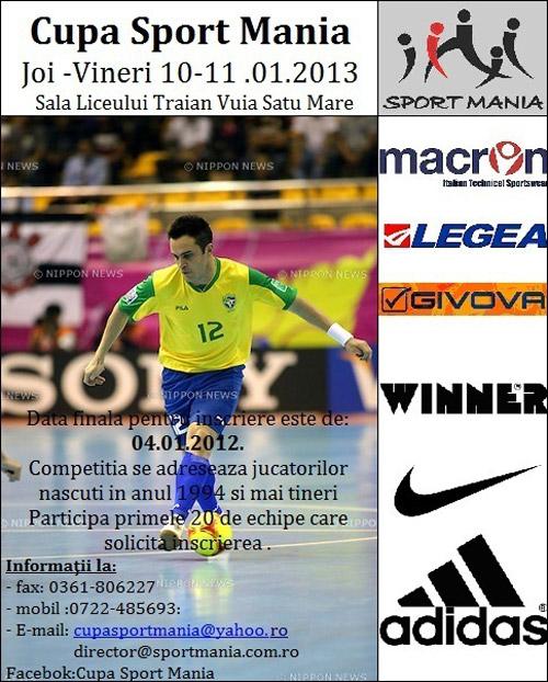 """Începe Cupa """"Sport Mania"""" la fotbal"""