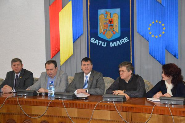 Valer Marian, Octavian Petric, Adrian Ştef şi Mircea Govor s-au întâlnit astăzi cu primarii şi viceprimarii USL