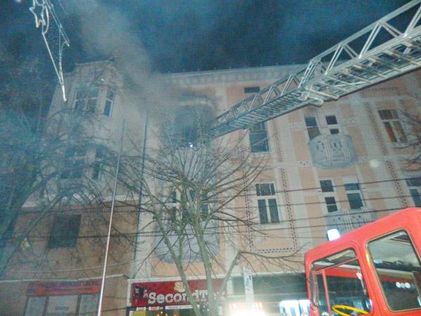 Apartament distrus de flăcări în Centrul Vechi al Sătmarului