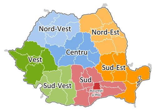 România va avea 8 regiuni
