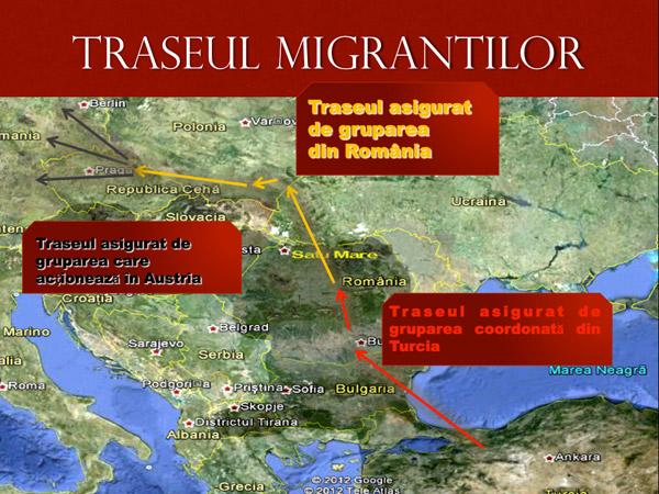 Grupare internaţională de trafic de migranţi, destructurată