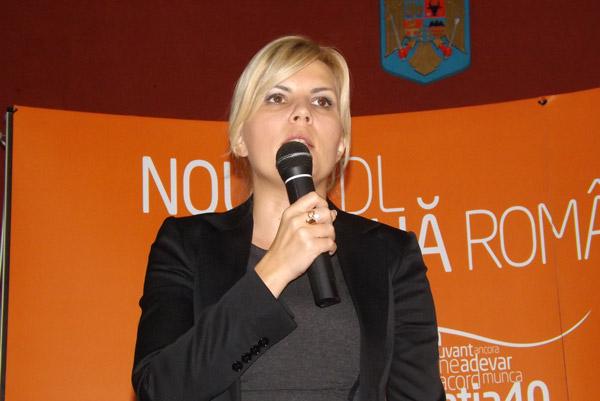 Elena Udrea şi-a prezentat moţiunea în faţa democrat-liberalilor sătmăreni