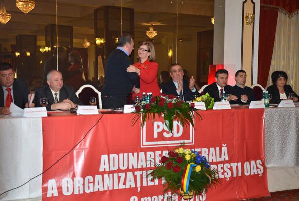 Aurelia Fedorca a fost aleasă în funcţia de preşedinte al organizaţiei PSD Negreşti-Oaş