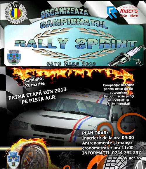 "Începe ""Rally Sprint"" Satu Mare 2013"