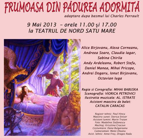 """""""Frumoasa din pădurea adormită"""", pe scena Teatrului de Nord Satu Mare"""