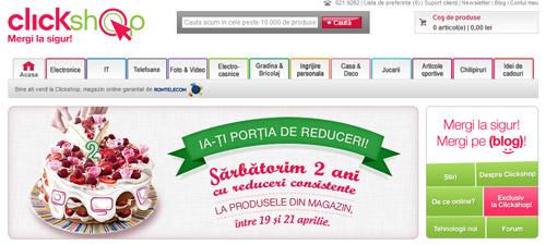 Reduceri de până la 50% la clickshop.ro