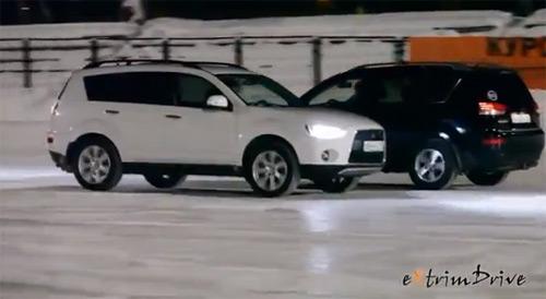 Coregrafie inedită, un Outlander și un Crosser dansează pe gheață