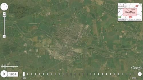 Satu Mare, încremenit în timp pe harta Landsat Annual Timelapse 1984-2012
