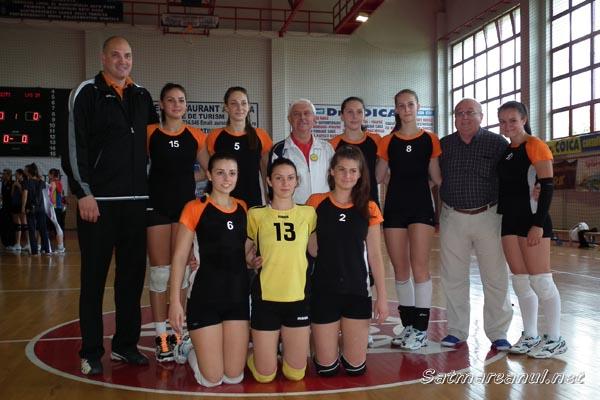 Echipa de volei fete a LPS Satu Mare a câştigat Olimpiada Naţională a Sportului Şcolar