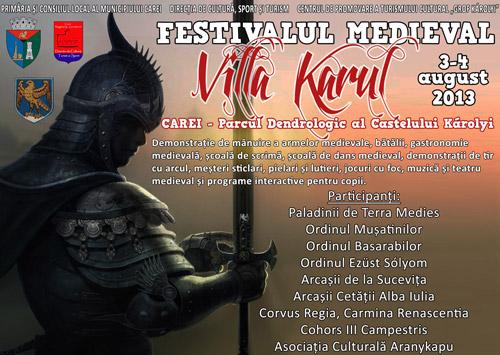 """""""Festivalul Medieval"""" din Carei, la prima ediţie"""