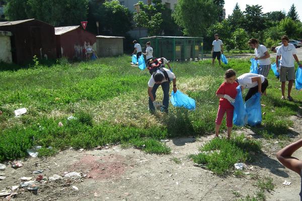 Asociaţia STEA a ieşit la curăţenie în zona Ostrovului