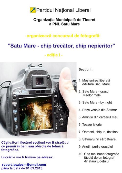 """Concursul de fotografii """"Satu Mare-chip trecător, chip nepieritor""""- ediția I"""