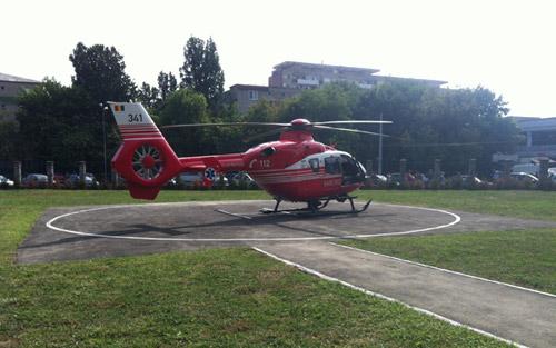 Un elicopter SMURD s-a defectat la Satu Mare