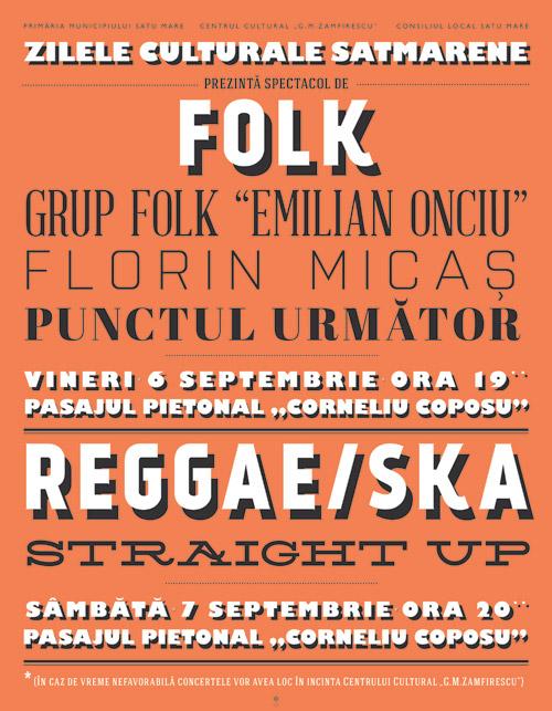 Două concerte în acest weekend, în centrul Sătmarului
