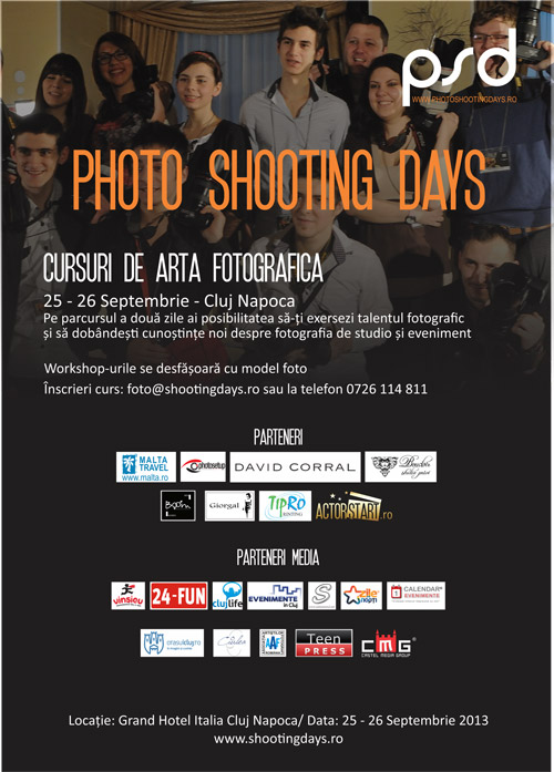 Photo Shooting Days – evenimentul fotografic al anului, la Cluj