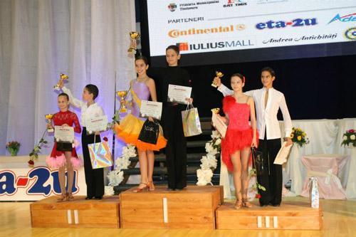Evoluţie bună pentru dansatorii sătmăreni la concursul de la Timişoara