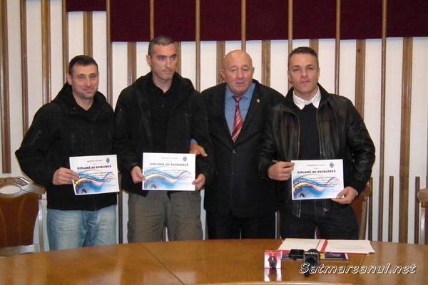 Dorel Coica a premiat trei polițiști sătmăreni