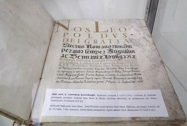 Documente inedite, expuse la Muzeul Judeţean Satu Mare (galerie foto)