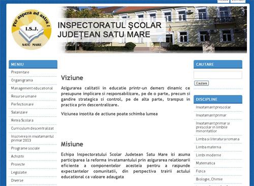 Inspectoratul Şcolar Judeţean Satu Mare are un nou site