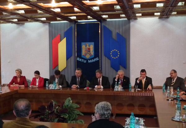 Membrii Comisiei de Buget din Camera Deputaţilor în vizită de lucru la Satu Mare