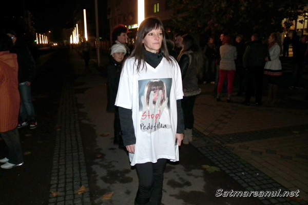 Marş împotriva pedofiliei, organizat la Satu Mare (galerie foto)