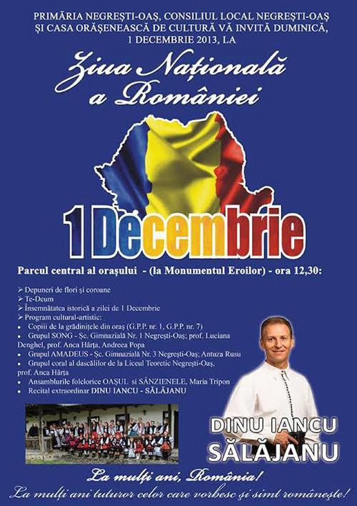 """Recital de """"Ziua Naţională a României"""" susţinut de Dinu Iancu Sălăjanu la Negrești Oaș"""