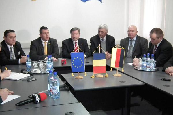 Ambasadorul Germaniei în România, a efectuat azi o vizită la Satu Mare