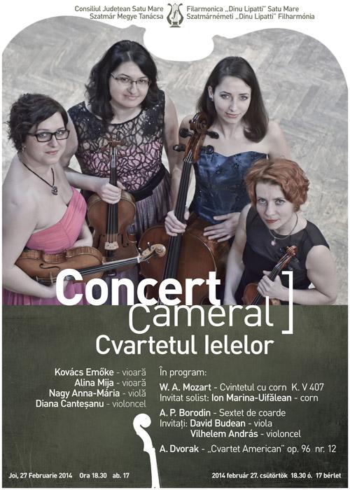 """""""Cvartetul Ielelor"""" la Filarmonica """"Dinu Lipatti"""""""