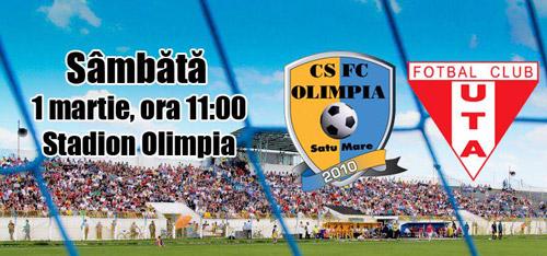 Fotbal: Olimpia Satu Mare-UTA Arad