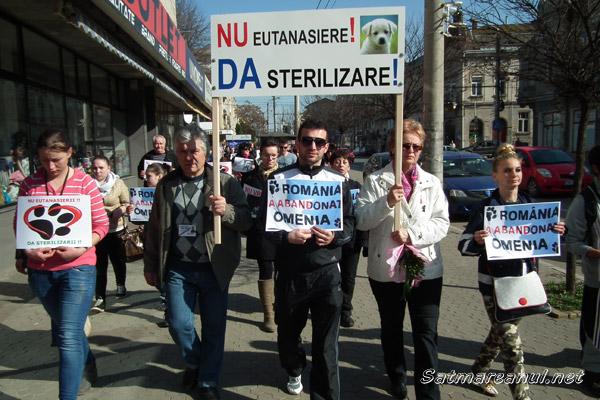 Protest împotriva eutanasierii câinilor fără stăpân