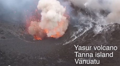 Vezi cum arată o erupţie vulcanică filmată de aproape (video)
