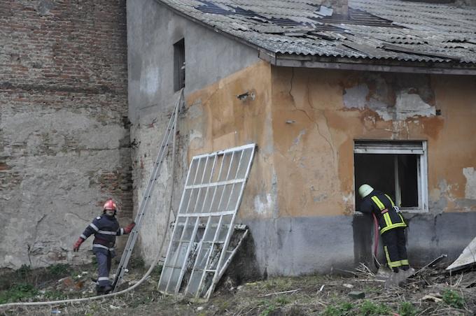 Incendiu pe Bulevardul Vasile Lucaciu