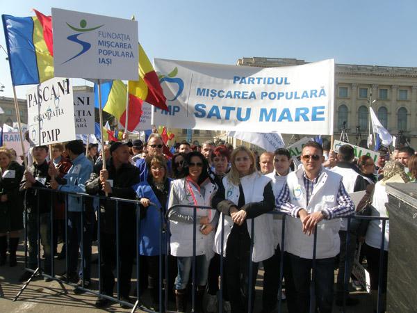 Membrii şi simpatizanţi a PMP Satu Mare la mitingul din Bucureşti