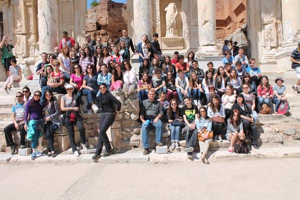 """Peste 30 de elevi şi profesori de la Liceul Teoretic German """"Johann Ettinger"""", au efectuat o vizită în Turcia"""