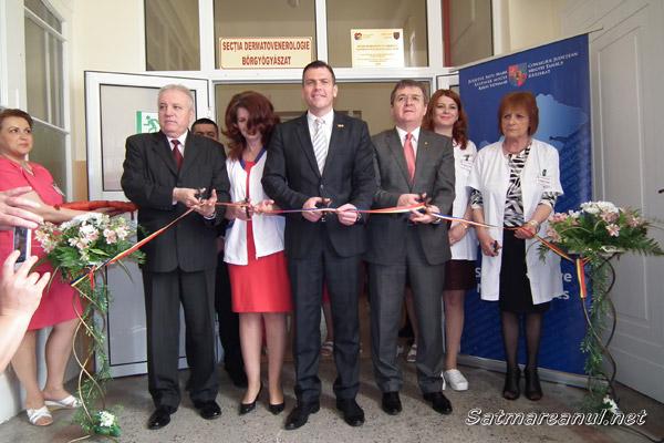 A fost inaugurată noua Secţie de dermato-venerologie a Spitalului Judeţean Satu Mare (foto)