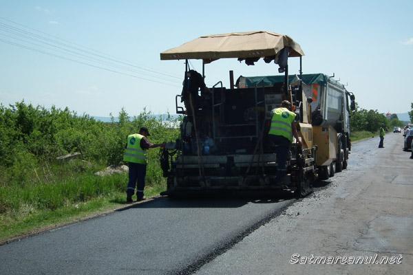 Au început lucrările de reabilitare a drumului Satu Mare-Viile Satu Mare