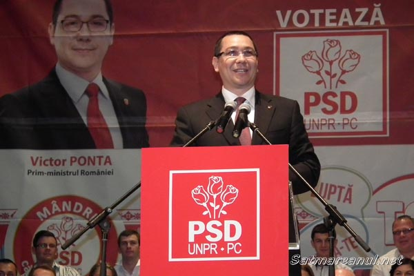 Victor Ponta şi Liviu Dragnea vin în acest week-end în judeţul Satu Mare