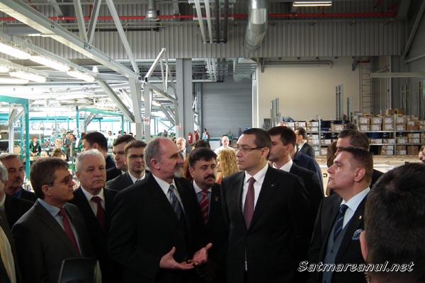Premierul Victor Ponta, în vizită oficială la Draxlmaier Satu Mare