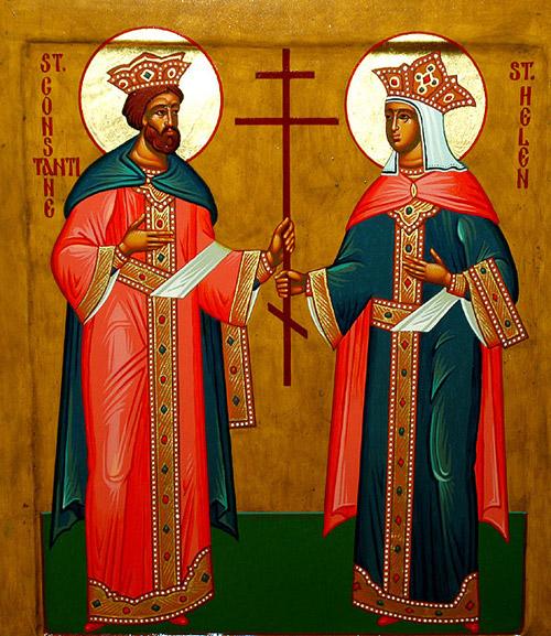 Felicitare cu ocazia sărbătorii sfinților împăraţi Constantin şi Elena