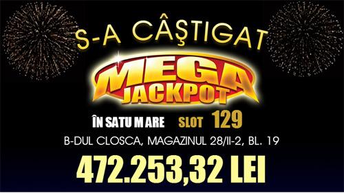 Mega Jackpot de peste 100.000 de euro, câştigat la Satu Mare