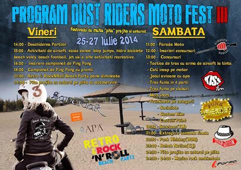"""Pită prăjită cu usturoi, pălincă ardelenească şi muzică bună la """"Dust Riders Moto Fest"""" III"""