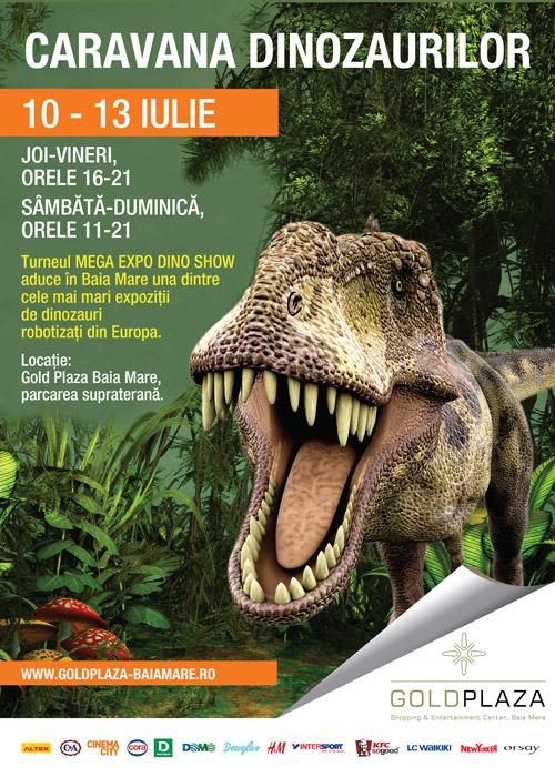 Caravana Dinozaurilor la Gold Plaza
