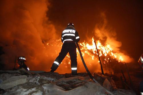 Fabrica de jucării Amik din Petin, distrusă de un trăznet