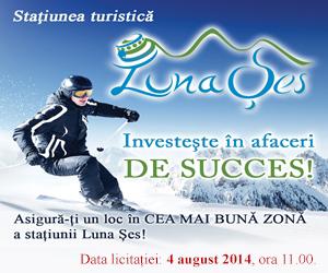Licitaţie pentru loturile din zona turistică Luna Şes