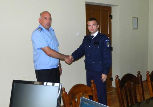 Un student îşi desfăşoară stagiul de practică la Jandarmeria Satu Mare